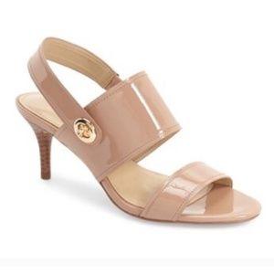 COACH Marla Patent Leather Open-Toe Sandals 10B